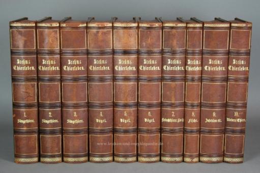 Brehms Thierleben / Tierleben. Allgemeine Kunde des Thierreichs 2. Auflage, 10 Bände, 1876-1879