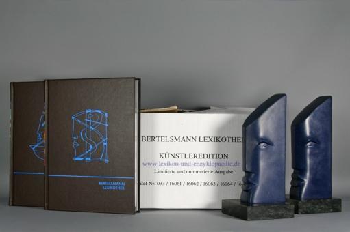 Bertelsmann Lexikothek Künstler-Edition Falko Hamm, 15 Bände & Skulpturen Nr. 219/999 | OVP