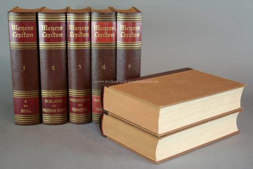Meyers Lexikon 8. Auflage, 10 Bände (incl. Atlasband), alle Beilagen / Nachlieferungen, 1936-1942