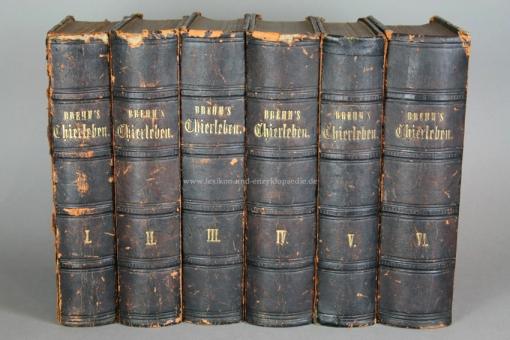 Brehms Illustriertes Thierleben / Tierleben, Erstausgabe, 6 Bände, 1864-1869 (II)