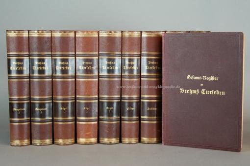 Brehms Tierleben 3. Auflage, 11 Bände (incl. Register), Chromolithographien, 1890-1893
