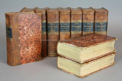 Brockhaus Conversations-Lexikon 5. Auflage, in zehn (10) Bänden, 1822