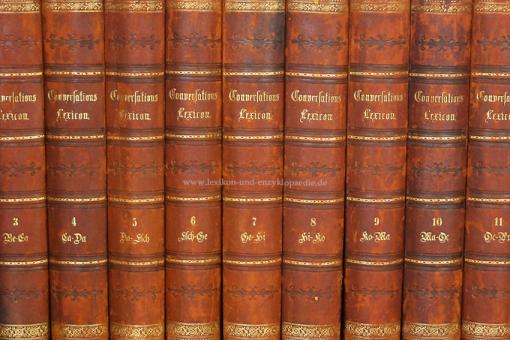 Brockhaus Conversations-Lexikon 11. Auflage, 15 Bände (A-Z), 1864-1868 (II)