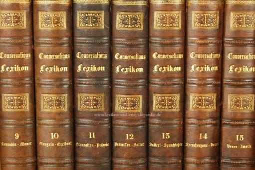 Brockhaus Conversations-Lexikon 11. Auflage Prachteinband, 15 Bände (A-Z), 1864-1868