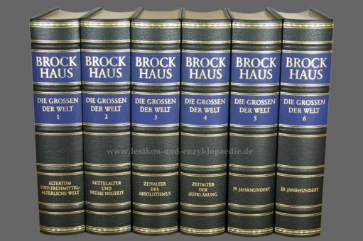 Brockhaus Die Bibliothek, Die Grossen der Welt, 6 Bände (Exklusiv)