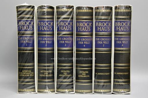 Brockhaus Die Bibliothek, Die Grossen der Welt, 6 Bände (Exklusiv) | Neu & OVP
