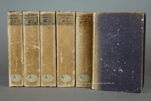 Brockhaus Conversations-Lexicon 2. Auflage, 13 Bände (Supplement, Neue Folge), 1812, sehr selten