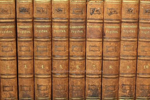 Brockhaus Conversations-Lexikon 10. Auflage, 15 Bände (A-Z), 1851-1855