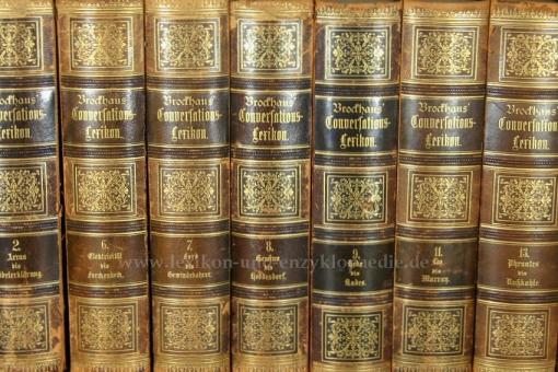 Brockhaus Conversations-Lexikon 13. Auflage, Einzel-Band, Halbleder