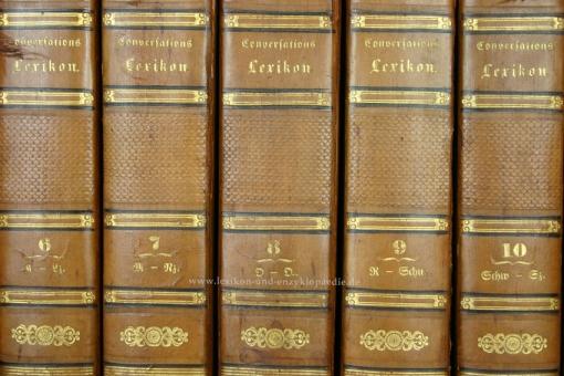 Brockhaus Conversations-Lexikon 8. Auflage, 12 Bände (A-Z), 1833-1837 (II)
