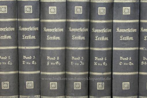 Brockhaus Conversations-Lexikon 8. Auflage, Einzel-Band