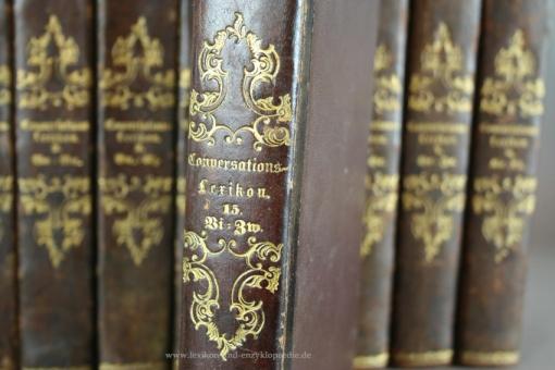 Brockhaus Conversations-Lexikon 9. Auflage, 15 Bände (A-Z), 1843-1848 (I)