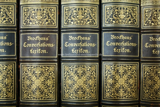 Brockhaus Conversations-Lexikon 13. Auflage, 17 Bände (incl. Supplement), 1882-1887, Bolms