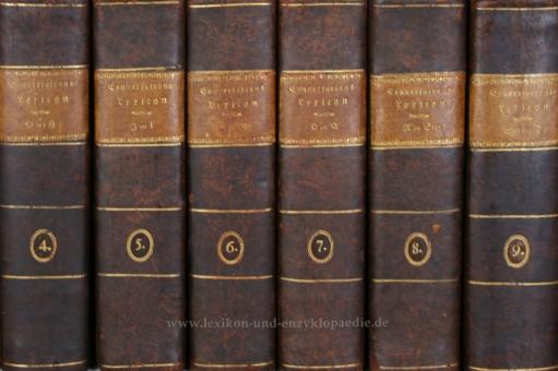 Brockhaus Conversations-Lexicon 4. Auflage, 11 Bände (incl. Supplement), 1817-1819 (I)