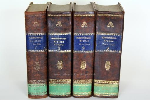 Brockhaus Conversations-Lexikon der neuesten Zeit und Literatur, 4 Bände, 1832-1834