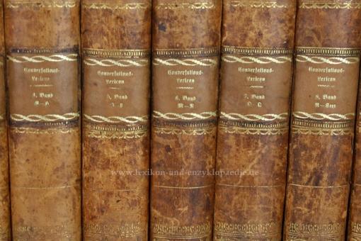 Brockhaus Conversations-Lexikon 6. Auflage, 10 Bände (A-Z), 1824 (IV)