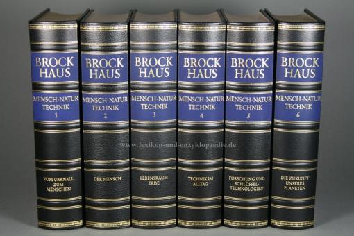 Brockhaus Die Bibliothek, Mensch Natur Technik, 6 Bände (Exklusiv)