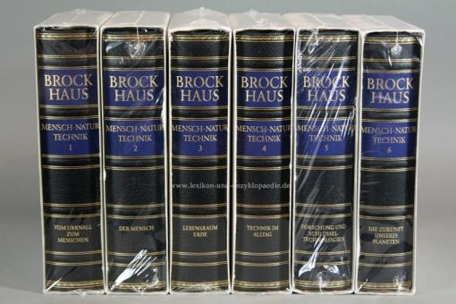 Brockhaus Die Bibliothek, Mensch Natur Technik, 6 Bände (Exklusiv) | Neu & OVP