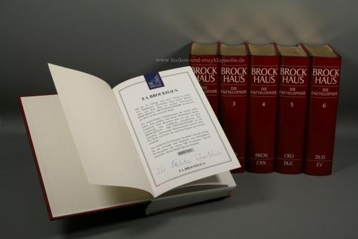 Brockhaus Die Enzyklopädie 20. Auflage, 24 Bände (A-Z) signiert, Nummer 20/980