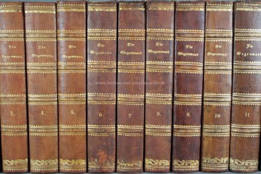 Brockhaus Die Gegenwart, Darstellung der neuesten Zeitgeschichte, 12 Bände, 1848-1856