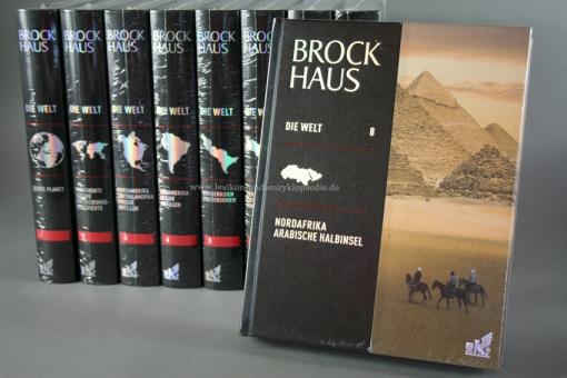 Brockhaus Die Welt, 18 Bände & multimediaPen, Länder-Lexikon, Silber-Kopfschnitt | Neu & OVP