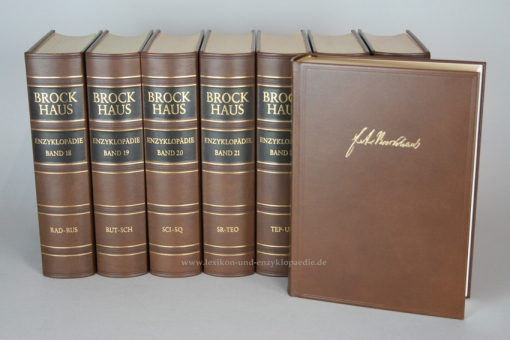 Brockhaus Enzyklopädie 19. Auflage, 30 Bände (Band 1-30) Ganzleder / Echt-Leder