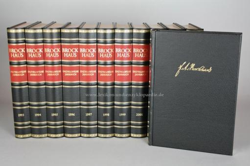 Brockhaus Jahrbücher 1993-2008 & Jahrbuch Register 1993-1999, 17 Bände, Exklusiv