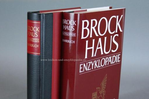 Brockhaus Enzyklopädie Jahrbuch, Einzel-Band, Halbleder