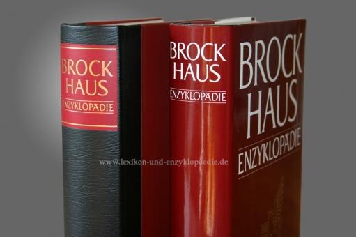 Brockhaus Enzyklopädie 19. Auflage, 24 Bände (A-Z) Halbleder