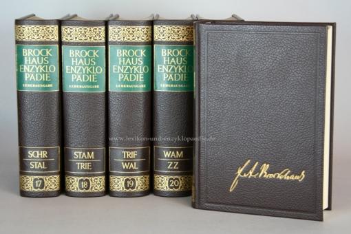 Brockhaus Enzyklopädie 17. Auflage, 24 Bände (Band 1-24) Ganzleder / Echt-Leder, selten