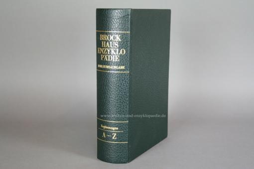 Brockhaus Enzyklopädie 17. Auflage, Band 25 (Ergänzungen A-Z) Ganzleder Jubiläum, sehr selten 25