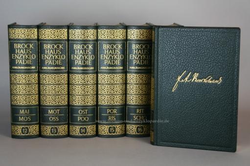 Brockhaus Enzyklopädie 17. Auflage, Einzel-Band, Ganzleder Jubiläum