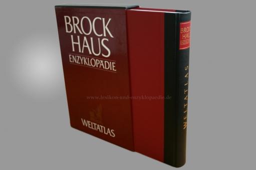 Brockhaus Die Enzyklopädie Weltatlas 2./19.+20. Auflage, 1997, Halbleder