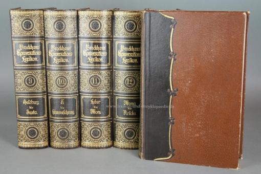 Brockhaus Konversations-Lexikon 14. Auflage, 17 Bände, 1898 (Revidierte Jubiläums-Ausgabe)