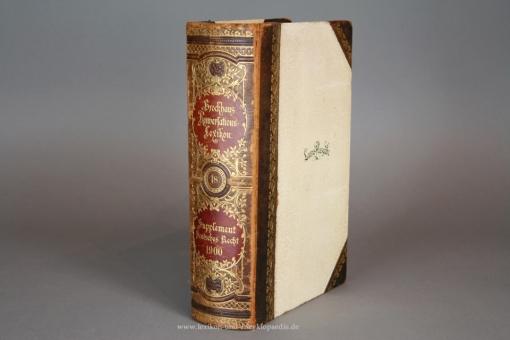 Supplement Deutsches Recht 1900 (Band 18) zu Brockhaus Konversations-Lexikon, Luxus-Ausgabe, selten
