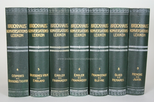Brockhaus Konversations-Lexikon 14. Auflage, Band 6, 1908 (Engler - Frankreich) 6