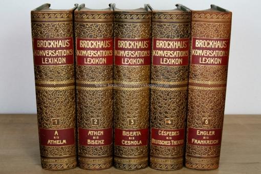 Brockhaus Konversations-Lexikon 14. Auflage, Band 2 (Athen - Bisenz), 1908, Kopfgoldschnitt 2