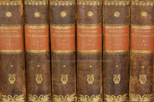 Brockhaus Conversations-Lexikon 5. Auflage, 11 Bände (incl. Supplement), 1820-1824