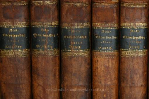 Brockhaus Conversations-Lexikon 5. Auflage, 10 Bände (A-Z), 1822