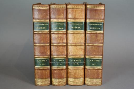 Neuestes Conversations-Lexikon für alle Stände, 8 Bände (A-Z), EA 1832-1838, Tafeln, selten