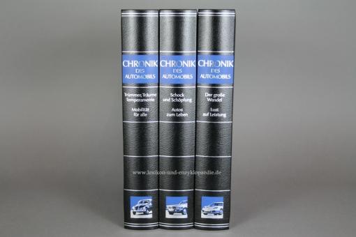 Chronik des Automobils, in 3 Bänden komplett (1946-2006), Silber-Kopfschnitt