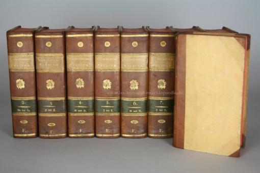Brockhaus Conversations-Lexicon 4. Auflage, 11 Bände (incl. Supplement), 1817-1819, selten