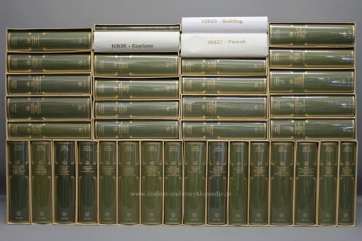 Coron, Nobelpreis für Literatur, alle 38 Bände (1901-2007 & Einf. Band), Kopfgoldschnitt | OVP