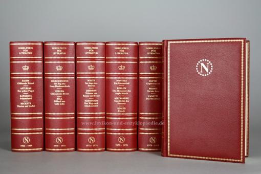 Coron, Nobelpreis für Literatur, limitierte Ganzlederausgabe, 27 Bände (komplett), Kopfgoldschnitt