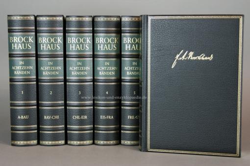 Der Brockhaus in Achtzehn (18) Bänden (A-Z & Deutsches Wörterbuch)