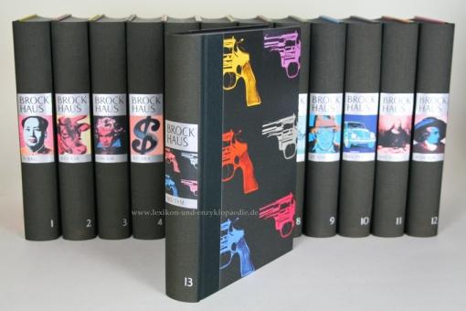 Der Brockhaus in Fünfzehn (15) Bänden, Andy Warhol Künstler-Edition, limitiert