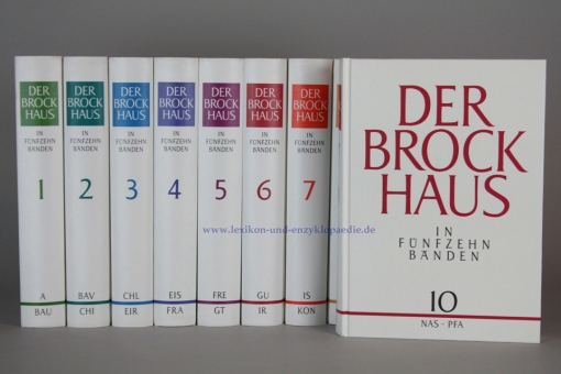 Der Brockhaus in Fünfzehn (15) Bänden, Erstausgabe