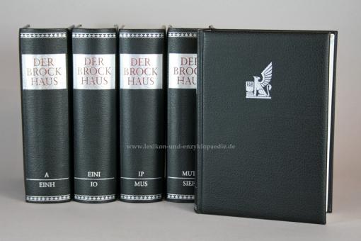 Der Brockhaus in Fünf (5) Bänden & auf CD, Sonderedition mit Silber-Kopfschnitt