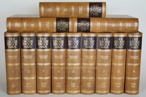 Der Große Brockhaus 18. Auflage, 12 Bände (A-Z) Ganzleder / Echt-Leder