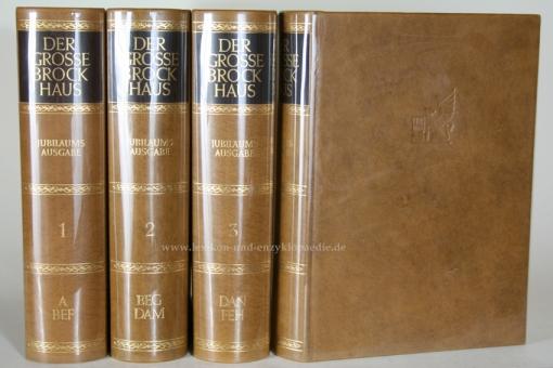 Der Große Brockhaus 18. Auflage, 20 Bände (Karten, Ergänzungen, Wahrig) Ganzleder / Echt-Leder